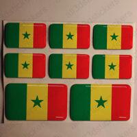 Pegatinas Senegal Pegatina Bandera Senegal Vinilo Adhesivo 3D Relieve Resina