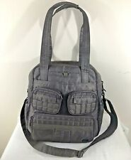 LUG Puddle Jumper Overnight Bag Gray Quilted Travel Duffel Carry On Luggage