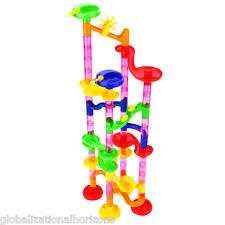 80pcs DIY Marble Race Run Maze Building Blocks Tower Game Kids Child Toy Gift