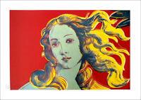 Andy Warhol Birth of Venus Red Offset Litho Print 27-1/2 x 39-1/2