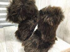 Adora Toddler Fashion Boot Brown Faux Fur Slip-On Retro Boho Size 5C