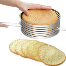 Adjustable Cake Cutter Round Shape Bread Cake Layered Slicer Mold Ring Tools HT