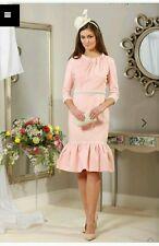 BNWT Ladies pink pearl trimmed dress (ladies day races, graduation, wedding)