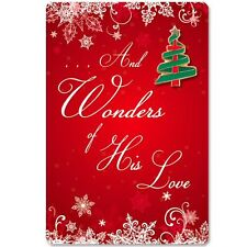 And Wonders Of His Love Christian Christmas Lapel Pin & Card Fast Usa Shipping!