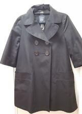 Yohji LIMI feu Cotton Black A line Trench Coat Size S