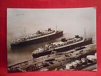 Postkarte Marine Schiffe Original Norddeutscher Lloyd Express D.Bremen und Europ