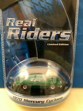 """HOT WHEELS REAL RIDERS """" 1970 MERCURY CYCLONE """"  GREEN  LIMITED EDITION"""