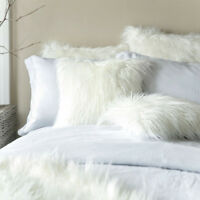 Home Decor Sofa Waist Cushion Cover Soft Fur Fluffy Plush Throw Pillow Cases