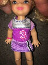Barbie I Can Be Soccer Coach Replacement Kelly Purple Uniform Dress Outfit #3