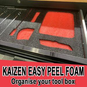 2 Pack Kaizen Foam DIY Tool Organizer Sheets 1Mx0.67Mx30mm Each (1.34sqm)