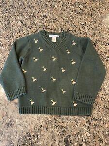 Janie and Jack Boys 3T Mallard Duck Sweater