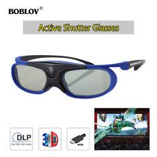 3D Active Shutter Glasses DLP-Link Home Theater Blue For Optoma BenQ Acer Sharp