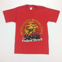 Vtg United States Marines T-shirt  SMALL USA Made Single Stitch Gallant Breed