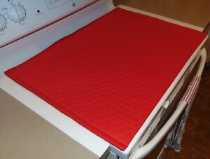 Stove Top Cover& Protector for Glass, Ceramic Stove Quilted Fabric Color Red