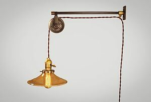 Vintage Industrial Pulley Light - Wall Sconce Lamp Steampunk Kitchen Reading