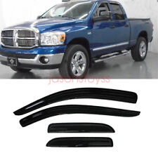 4Pcs Vent Shade Window Visors Rain Guards For Dodge Ram 1500 2500 3500 02-08