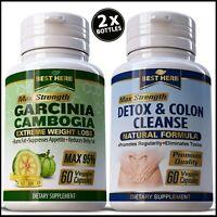 120 x Capsules Garcinia MAX 95% Diet Colon Detox Weight Loss Slimming Fat Burner