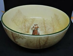 "Vintage Royal Doulton Shakespeare Series ""Anne Page"" Large Salad Bowl- D3746"