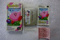 """Hoshi no Kirby 3 """"Good Condition"""" Nintendo Super Famicom SFC SNES Japan"""