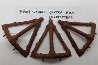THREE Vintage Ewok Village Playset Tree Supports Struts Original Star Wars Parts