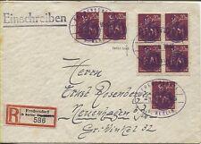 Lokal Fredersdorf F 241 (7) auf R-Brief Stempel rückdatiert BPP-geprüft (B07064)
