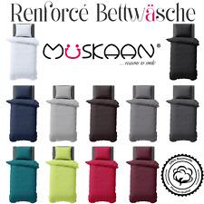 2-tlg Renforcé Uni Bettwäsche 135x200 155x220 Kissenbezug 100% Bw 11 Farben