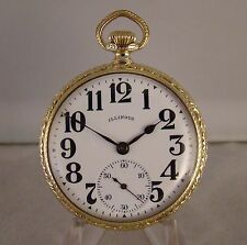 """101 YEARS OLD ILLINOIS """"U.R.R.SPECIAL"""" 19j 14k GOLD FILLED OF 16s POCKET WATCH"""