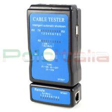 TESTER di Rete ethernet RJ45 USB telefonico RJ11 per cavo Lan plug cable network