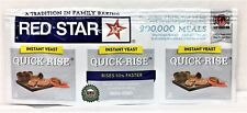 Red Star Quick Rise Instant Yeast Strip of three 1/4oz packets