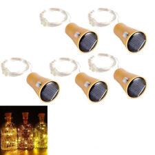 5er 10LEDs Solar LED Flaschenlicht String Cork Form Nacht Licht Stimmung Lichter