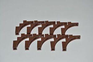 LEGO 10 x Bogenstein rotbraun Reddish Brown Brick Arch 1x5x4 Irregular Bow 76768