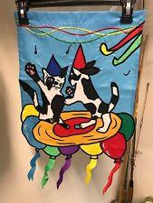 New listing Party Animals / Celebration / Birthday / Cat and Dog Handmade Garden Flag