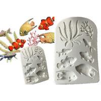 fondant backen. konditorei kuchen dekorieren werkzeuge ocean silikon - form
