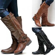 New Women BMtn8 Brown Tan Black Riding Knee High Boots sz 5.5 to 10