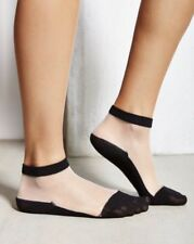 NWT Urban Outfitters Sheer Anklet Socks Black Cream Natural Ankle Mesh UO