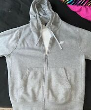 Mens Nike gray/grey Full Zip Hooded Jacket Coat Large