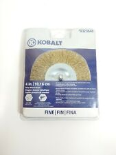 "Kobalt Wire Wheel Brush #0323648 4"" (10.16cm) Fine 1/4"" Shank"