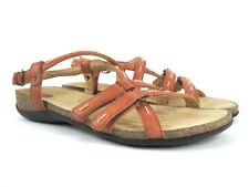 CLARKS Unstructured Women's Coral/Orange Leather Strappy Sandals Size 8 M