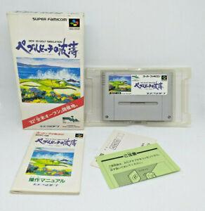 Snes Super Famicom Nintendo - Versión Japanese - Pebble Beach No Hatou With Box