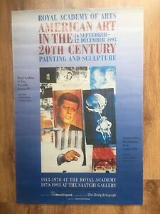 Vintage American Art in The 20th Century Original 1993 Exhibition Poster London