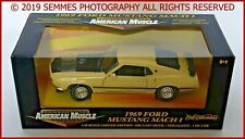 1:18 Ertl Ford Mustang '69 Mach 1 428-CID Cobra Jet Yellow Serialized NEW