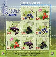 Karabakh Republic of Artsakh 2017 MNH Berries 8v M/S Flowers Plants Stamps
