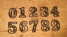 """Vintage-Style Home Address Numbers  4 5/8"""" tall (Set of All Ten) 0184S-0558"""