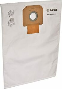 BOSCH VB090F 5-Pack Fleece Filter Bag for VAC090 Dust Extractor 9-Gallon , White
