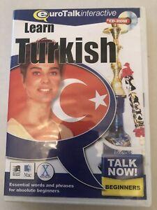 Eurotalk Talk Now Learn Turkish for Beginners CD ROM - Brand New