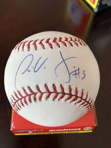 Jose Vidro signed MLB auto baseball Expos