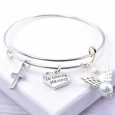 In Loving Memory Adjustable Bangle Bracelet, Memorial Gift, Supplied in Gift Box