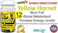 Yellow Hornet Increase Energy Burn Fat Boost Metabolism 20 Capsule X 12 Bottles