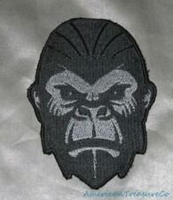 Embroidered Angry Gorilla Harambe Ape Dark Gray Tribute Patch Iron On Sew On USA