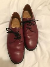 Mens Size 8 Oxblood, Lace Up Dr Martens Shoes,Made In England.Ex Con & Very rare